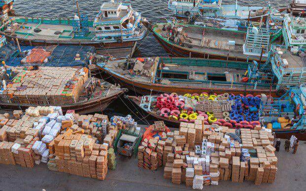 حمل بار از دبی با لنج   حمل بار ته لنجی   حمل کالا از دبی   واردات کالا از دبی با لنج